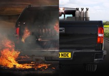 This photo is the main concept image for a safety campaign designed to make people aware of the risks involved in handling and transporting acetylene, and encouraging them to adopt safe practices accordingly. This photo illustrates both good and bad practices, and their possible consequences.