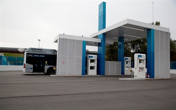 This Picture Shows the H2 filling Station in Bozen, Italy.