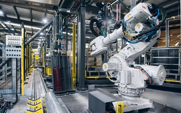 Automating the process of filling gas cylinders at boc australia six axes industrial robot in the automated filling plant in sidney australia malvernweather Choice Image