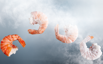 Shrimp freezing with nitrogen